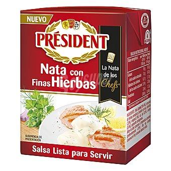 Président Salsas con hierbas aromáticas 200 ml