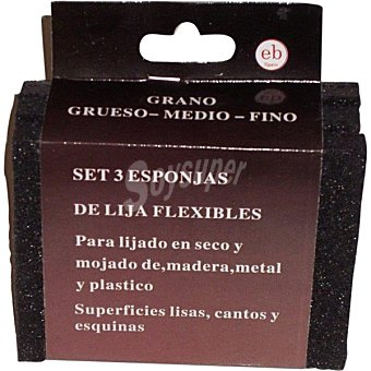 Vulcano Set de 3 esponjas de lija flexibles