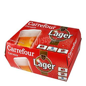 Carrefour Cerveza lager Pack 24x25 cl
