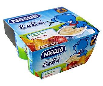 Nestlé Yogur para Bebe de multifrutas 4x100g