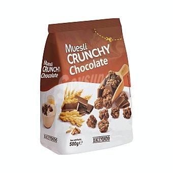 Hacendado Cereal muesli crujiente chocolate Caja 500 g