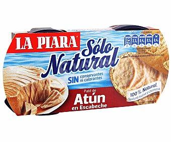 La Piara Paté de atún en escabeche Pack 2 lata 75 g
