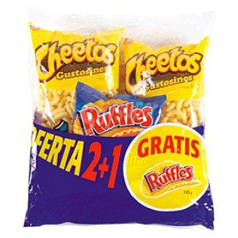 Cheetos Matutano Lote 1 patatas fritas ruffles + 2 gustosines Bolsa 302 gr