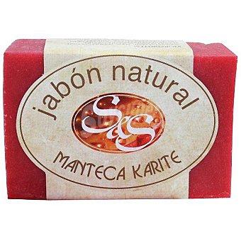 S&S Pastilla de jabon natural de Manteca Karite 100 g