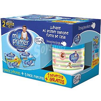 Mi Primer Danone Yogur natural + yogur 3 frutas Pack 4 unidades