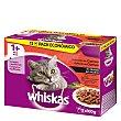 Recetas tradicionales alimento húmedo para gato en salsa selección de carne pack 12 bolsas x 100 g Whiskas