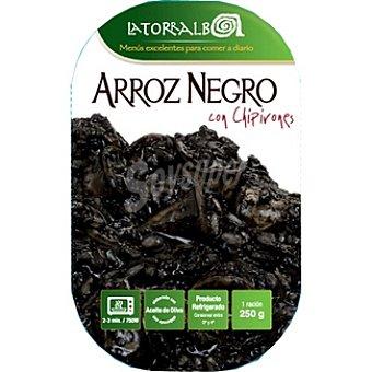 La Torralba Arroz negro con chipirones refrigerado Envase 250 g
