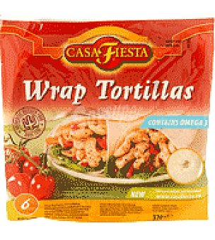Casa Fiesta Wrap tortillas pan liso mexicano 370 g