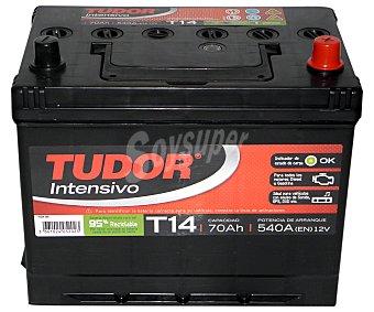 TUDOR Batería de arranque T14 12 Voltios 70Ah , potencia de arranque: 540 Amperios 1 unidad