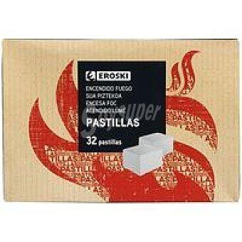 Eroski Pastilla para encendido de fuego eroski Caja 32 uds