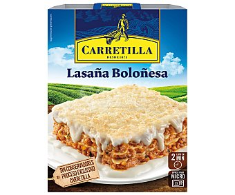 Carretilla Lasaña boloñesa Envase 375 g