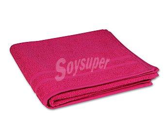 Productos Económicos Alcampo Toalla 100% algodón color rosa fucsia para lavabo, densidad de 360 gramos/m², 50x90 centímetros 1 unidad