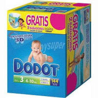 DODOT Etapas Pañal 4-10 kg Talla 3 caja 144 unid