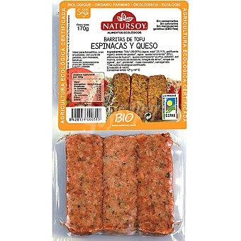 Natursoy Barritas de tofu con espinacas y queso ecologico envase 180 g Envase 180 g