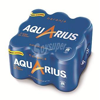 Aquarius Bebida isotónica de naranja Pack de 9x33 cl