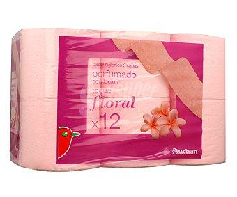 Auchan Papel higiénico de triple capa perfumado 12 uds
