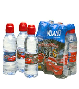 Insalus Agua mineral natural sport cars Pack 6x33 cl