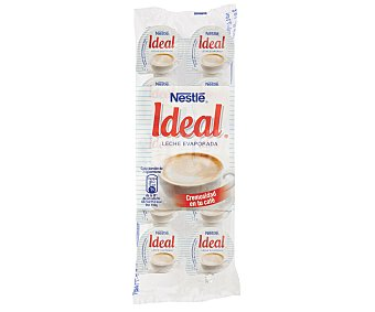 Ideal Nestlé Leche evaporada en porciones Pack 10 x 7.5 g