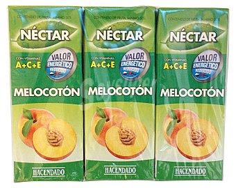 Hacendado Nectar melocoton sin azucar 6 x 200 cc