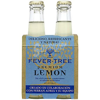 FEVER TREE Premium Tónica lemon pack 4 botella 20 cl Pack 4 20 cl