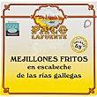Mejillones fritos en escabeche de las rías gallegas gigantes 6-8 piezas lata 111 g lata 111 g Paco lafuente