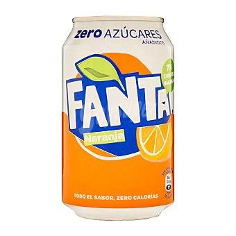 Fanta Refresco de naranja zero azúcares  Lata 33 cl