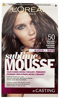 Sublime L'Oréal Paris Tinte coloración permanente espuma Nº 50 castaño natural Casting Crème Gloss 1 unidad