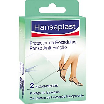 Hansaplast Banda adhesiva protectora de rozaduras transparente Caja 2 unidades