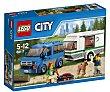 Juego de construcciones de 250 piezas Furgoneta y caravana, ref. 60117, incluye 2 figuras City 1 unidad LEGO
