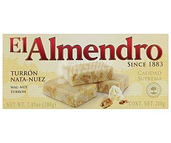 El Almendro Turron nata nuez suprema Caja 200g