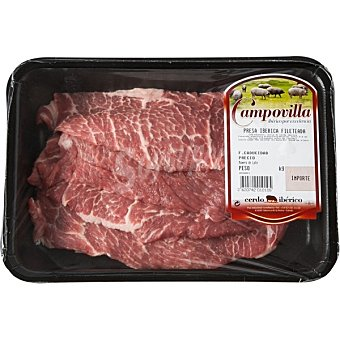 Campovilla Presas frescas de cerdo ibérico peso aproximado Bandeja 400 g