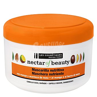Les Cosmétiques -Nectar of Beauty Mascarilla Mango & Nuez para cabello seco - Nectar of Nature 400 ml