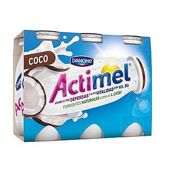 Actimel Danone Yogur liquido actimel coco 6 unidades de 100 g