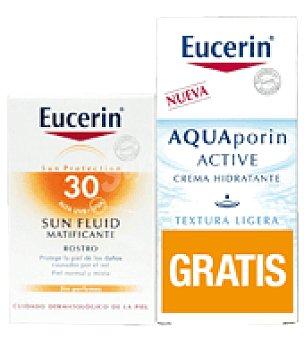 Eucerin Pack Fluído Solar Matificante SPF30+ Regalo crema Aquaporin Facial 50ml 50 ml