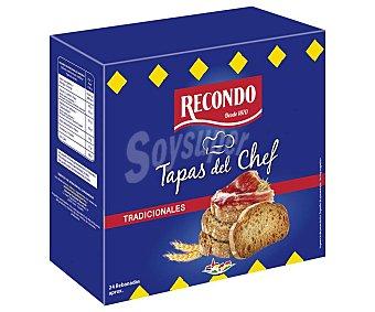 Recondo Mini tostadas de pan receta tradicional tapas del chef 100 gramos