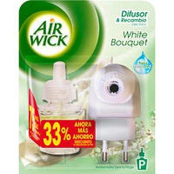 Air Wick Ambientador White Bouquet 33% Aparato + recambio 19 ml
