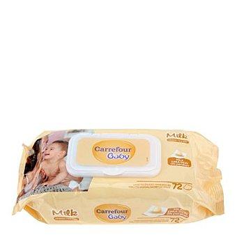 Carrefour Baby Toallita Milk 72 ud
