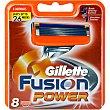 Recambio fusion power 8 unidades Gillette Fusion