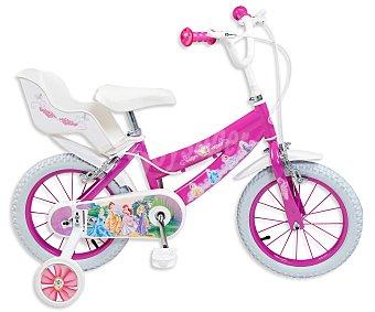 TOIMSA Bicicleta Infantil Princesas Disney, 1 Velocidad, 14 Pulgadas 1 Unidad