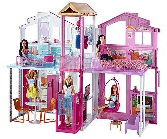 Barbie Escenario de juego Súpercasa de Barbie de 3 plantas, incluye accesorios 1 unidad