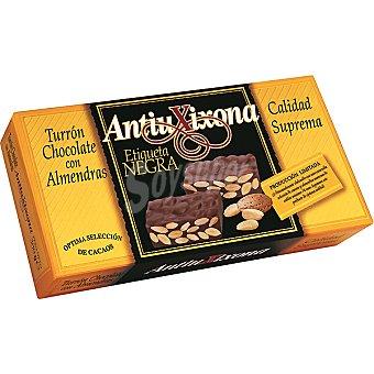 Antiu Xixona Turrón chocolate con almendras Etiqueta Negra Tableta 200 g