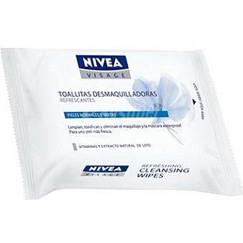 Nivea Toallitas desmaquilladoras refrescantes piel normal y mixta Visage Bolsa 7 unidades