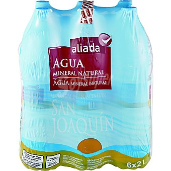 Aliada Agua mineral natural Pack 6 botellas 2 l