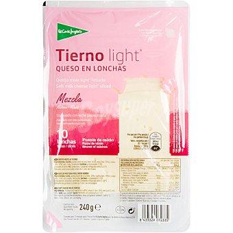 ALIADA Queso tierno light en lonchas envase 200 g