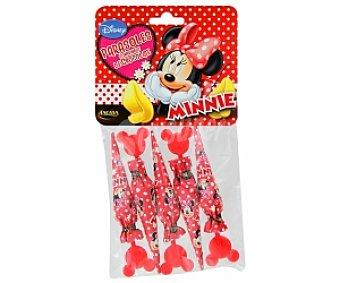 LACASA Minnie Parasoles de chocolate Minnie lacasa 5 Unidades de 10 Gramos 5x10g