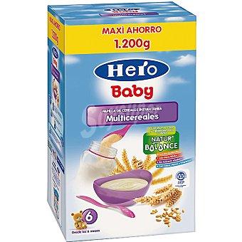 Hero Baby papilla instantánea multicereales envase 1200 g