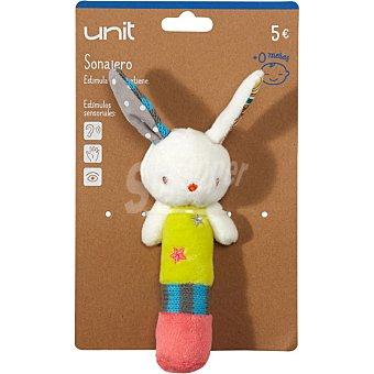 Unit J15043 Sonajero con forma de conejo multicolor