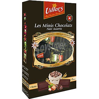 VILLARS minis napolitanas de chocolate negro estuche 250 g
