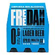 Cerveza sin alcohol 0,0% Pack 6 botellines x 25 cl Free Damm