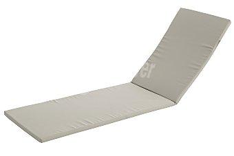 COMATEX Cojín para tumbona modelo Grey Line de color beige, de 192x58x3 centímetros, lavable y de gran resistencia al exterior 1 unidad